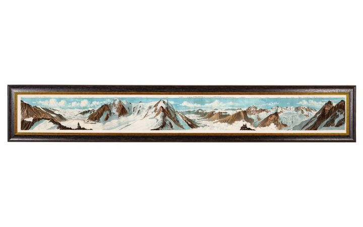 C.1887 Panoramic View of The Alps