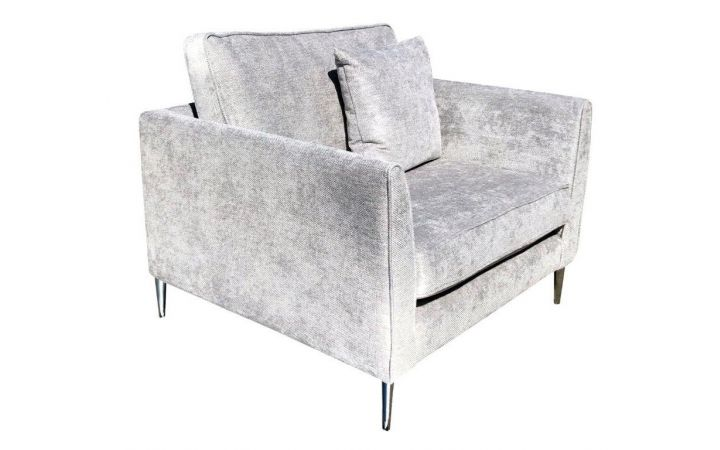 Milan Standard Chair - 'Oleander' Silver