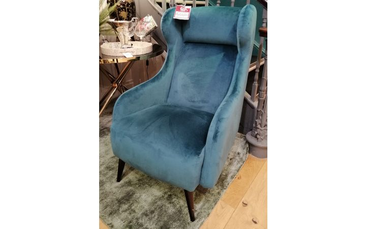 Roma Wing Chair - Lumio Teal