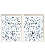Tree of Life Blue Set of 2 Prints - Large