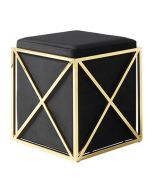 Empire Stool - Black & Gold