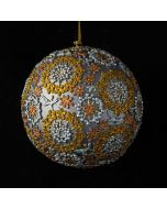 Floral Bauble - Copper/Silver